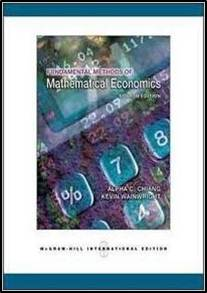 Fundamental Methods of Mathematical Economics  4th Edition  ISBN 9780071238236