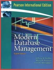 Modern Database Management, 8th Edition  ISBN 9780132301411
