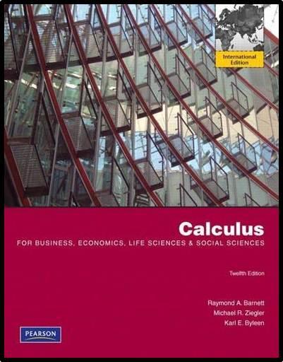 Calculus for Business, Economics, Life Sciences and Social Sciences  ISBN  9780321711007