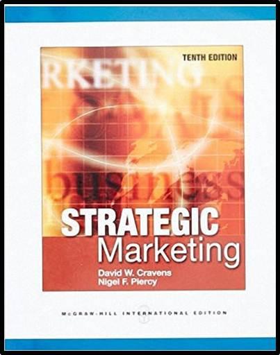 Strategic Marketing   ISBN  9780071326230