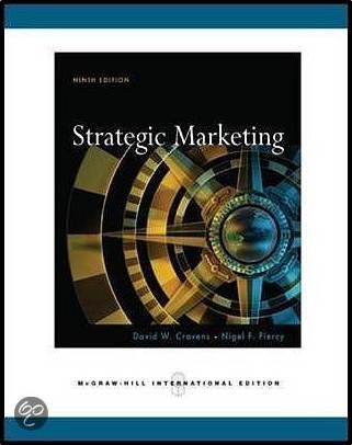 Strategic  Marketing  ISBN 9780071263351