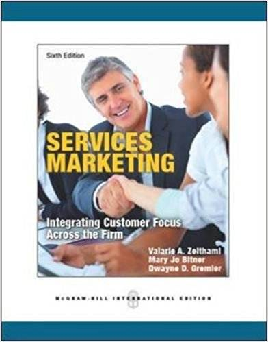 Services Marketing   6th Edition  ISBN 9780071086967