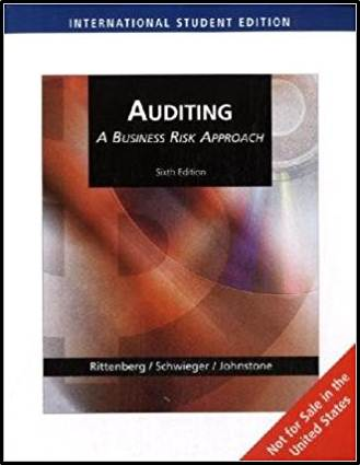 Auditing : A Business Risk Approach   ISBN  9780324645095