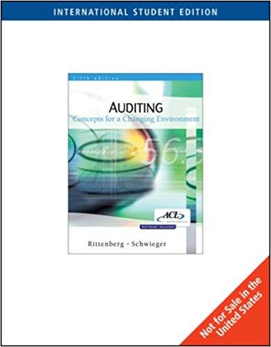 Auditing:Concepts for a Changing Environment  5E  ISBN 9780324318906