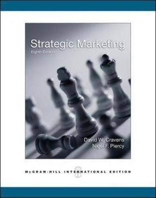 Strategic Marketing  8th Edition  ISBN 9780071244329
