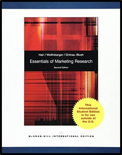 Essentials of  Marketing  Research   2rd Edition  ISBN 9780071220286
