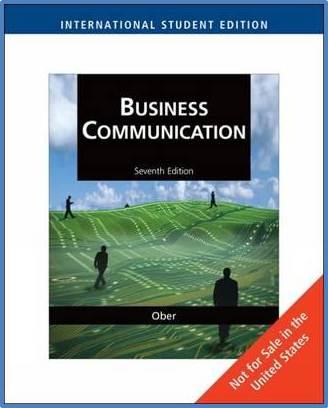 Business Communication  Intl  7 Edition   ISBN 9781439035696