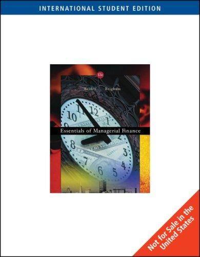 Essentials of  Managerial Finance   ISBN 9780324225020