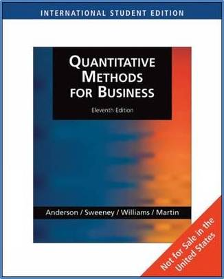 Quantitative Methods for Business   ISBN 9780324653489