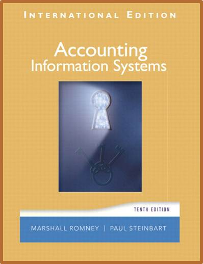 Accounting Information Systems  International  Edition ISBN  9780131968554