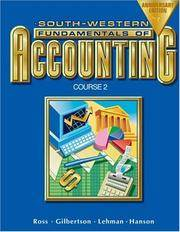 South-Western Fundamentals of Accounting Working Papers Chapters 18-26  ISBN 9780538727372