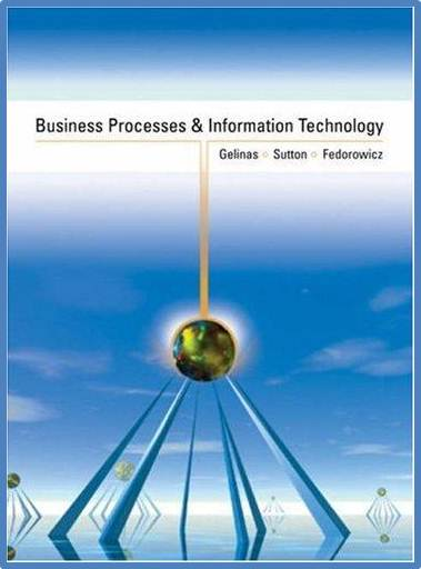 Business Processes and Information Technology  ISBN 9780324008784