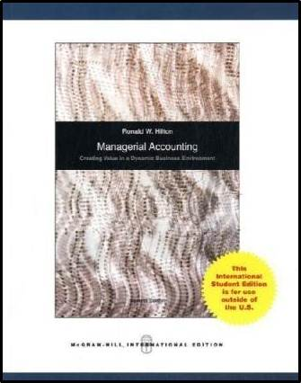 Managerial accounting : creating value in a dynamic business environment  ISBN  9780071101141