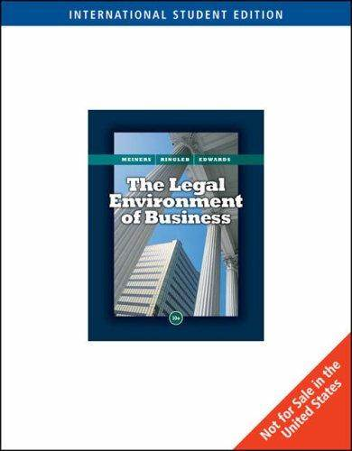 Business : Its Legal Environment , 10th Edition  ISBN 9780324659320