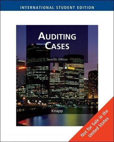 Auditing Cases, International Edition  ISBN  9780324595208