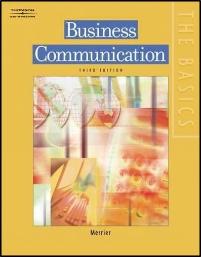Business Communication  Edition 3  ISBN  9780538728843