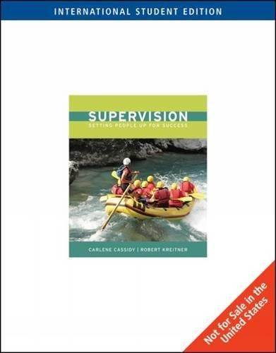 Supervision : Setting People Up for Success  1st Edition  ISBN 9780324788839