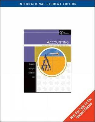 Accounting : Information for Decisions  ISBN  9780324225341