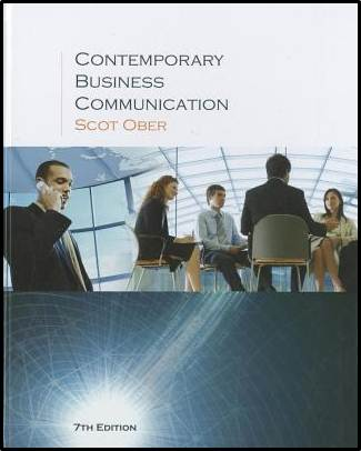 Contemporary Business Communication, 7th Edition ISBN 9780618990481