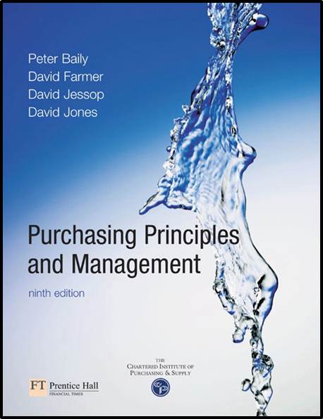 Purchasing, Principles and Management, 9/E  ISBN  9780273646891