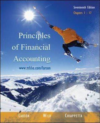 Principles of Financial Accounting  ISBN 9780071111256