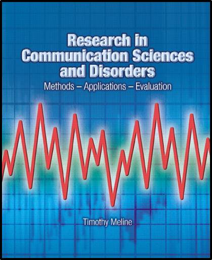Research in Communication Sciences and Disorders   ISBN 9780131837744