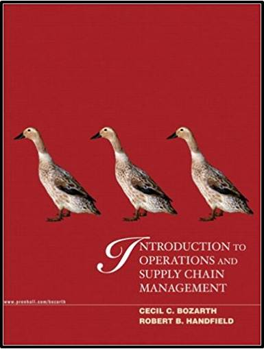 Introduction to Operations and Supply Chain Management  ISBN  9780139446207