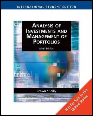 Analysis of Investments and Management of Portfolios  ISBN 9780324658422