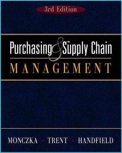 Purchasing and Supply Management  ISBN  9780324202540
