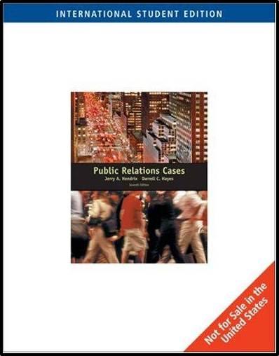 Public Relations Cases  ISBN 9780495170839