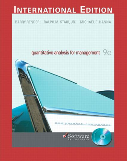 Quantitative Analysis for Management with CD: International Edition ISBN 9780131971028