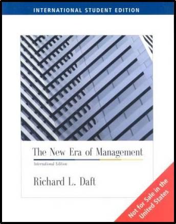 The New Era of Management : International student edition  ISBN  9780324323313
