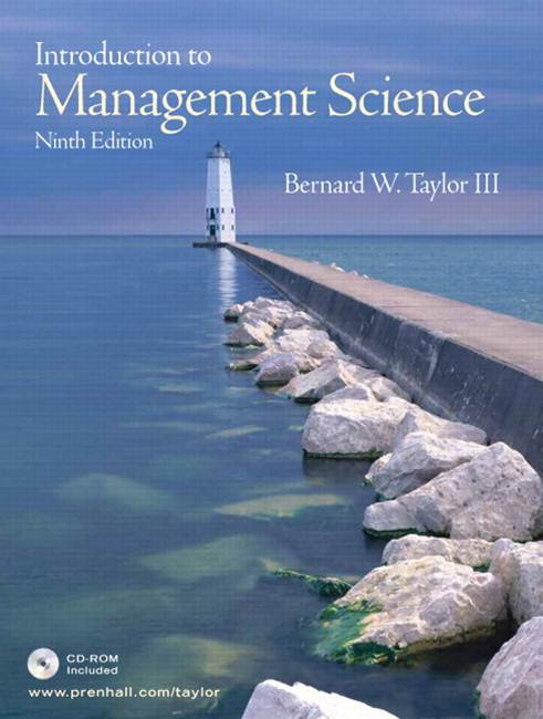 Introduction to Management Science  9E  ISBN 9780132371193