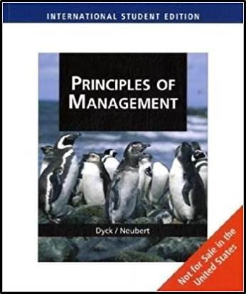 Principles of Management, International Edition, 1st Edition ISBN 9780324789188