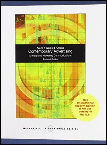 Contemporary Advertising 13e ISBN9780071220606
