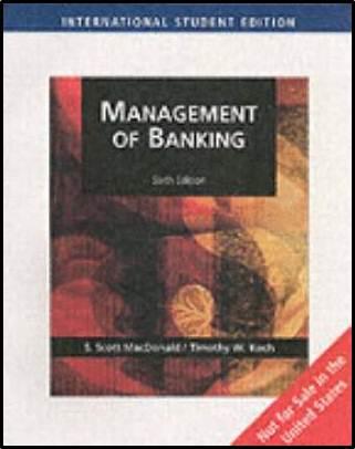 Management Of Banking International Student Edition 6ED - 9780324405880