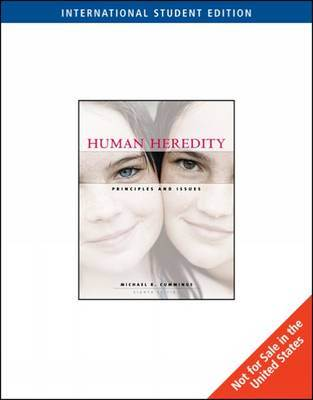 Human Heredity : Principles And Issues ISBN 9780495554479