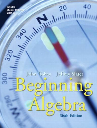 Beginning  Algebra  ISBN 9780131482876