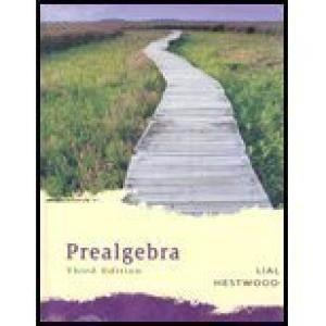 Prealgebra - 3rd edition  ISBN 9780321292759