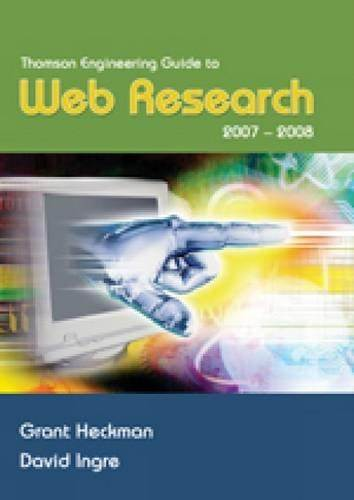 Thomson Engineering Guide to Web Research  2007-2008  1E  ISBN 9780495295921