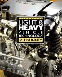 Light and Heavy Vehicle Technology ISBN 9780750680370