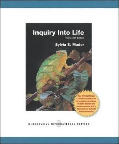 Inquiry into Life  ISBN 9781259007453