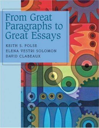 Great Paragraphs to Great Essays  ISBN 9780618265374