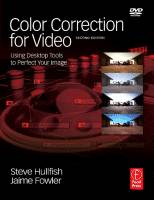 Color Correction for Video ISBN  9780240810782