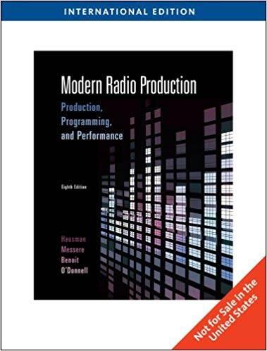 Modern Radio Production, International Edition  ISBN 9780495571438