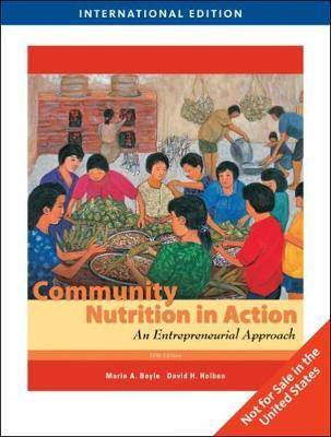 Community Nutrition in Action : An Entrepreneurial Approach  ISBN 9781439045466