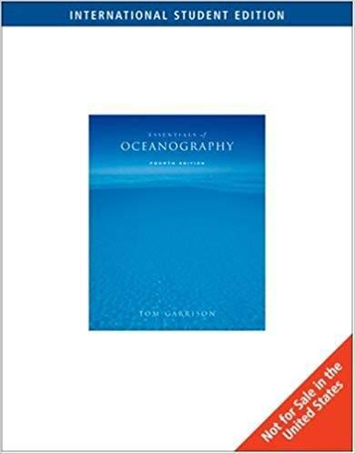 Essentials of Oceanography  ISBN 9780495105800