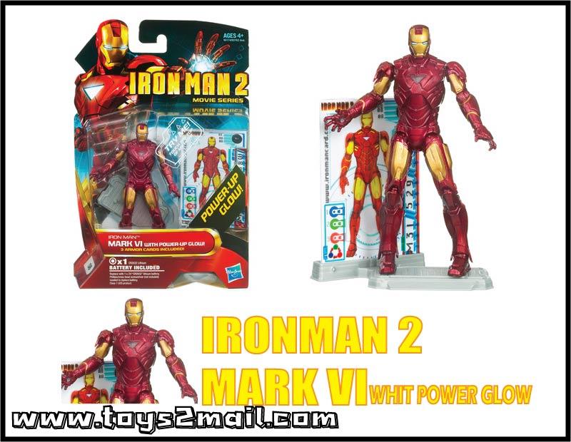 MARVEL : IRON MAN MOVIE 2 : รุ่น 4นิ้ว IRON MAN MARK VI Whit Power Glow [SOLD OUT]