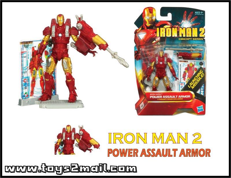 MARVEL : IRON MAN MOVIE 2 : รุ่น 4นิ้ว IRON MAN POWER ASSAULT ARMOR [SOLD OUT]