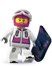 LEGO : LEGO MINI FIGURE SERIES 3 : SNOWBORDER [SOLD OUT]